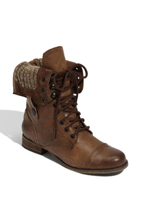 Steve Madden Cablee boots. I just got this for about $150 and I feel so steampunk you don't even know.
