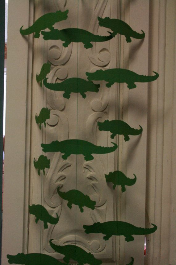 Alligator Zoo Decor Zoo Animal Party Garland by TheShabbyScrapper, $12.00