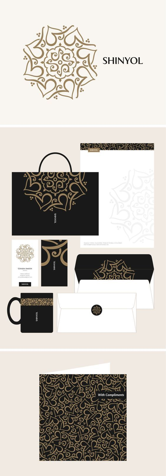 Arabesque style Arabic logo/identity design for an Abaya boutique in Qatar, by Khawar Bilal:                                                                                                                                                     More