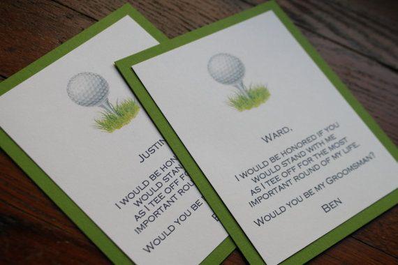 Will You Be My Groomsman Golf Invitation Groomsmen, Golf and ...