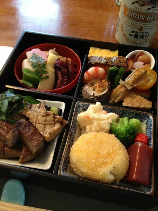 The bento my aunt ordered for my family get-together in Tokyo.