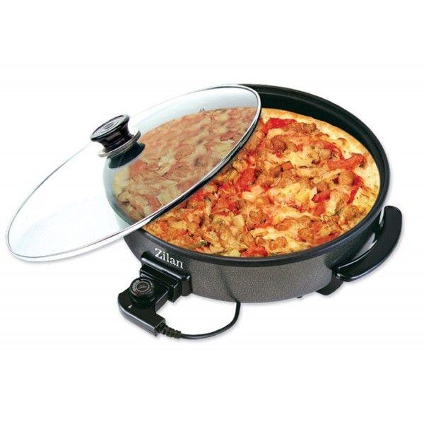 elektrische Pfanne 1500 Watt Multipfanne Elektropfanne Pizzapfanne Grillpfanne Partypfanne ALU-Carbonstahl