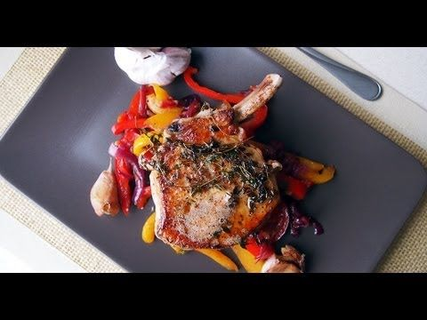 Gordon Ramsay Pork Chops with Sweet and Sour Peppers - 8/3/13- delicious in every sense of the word. There is a how to video on this link as well.