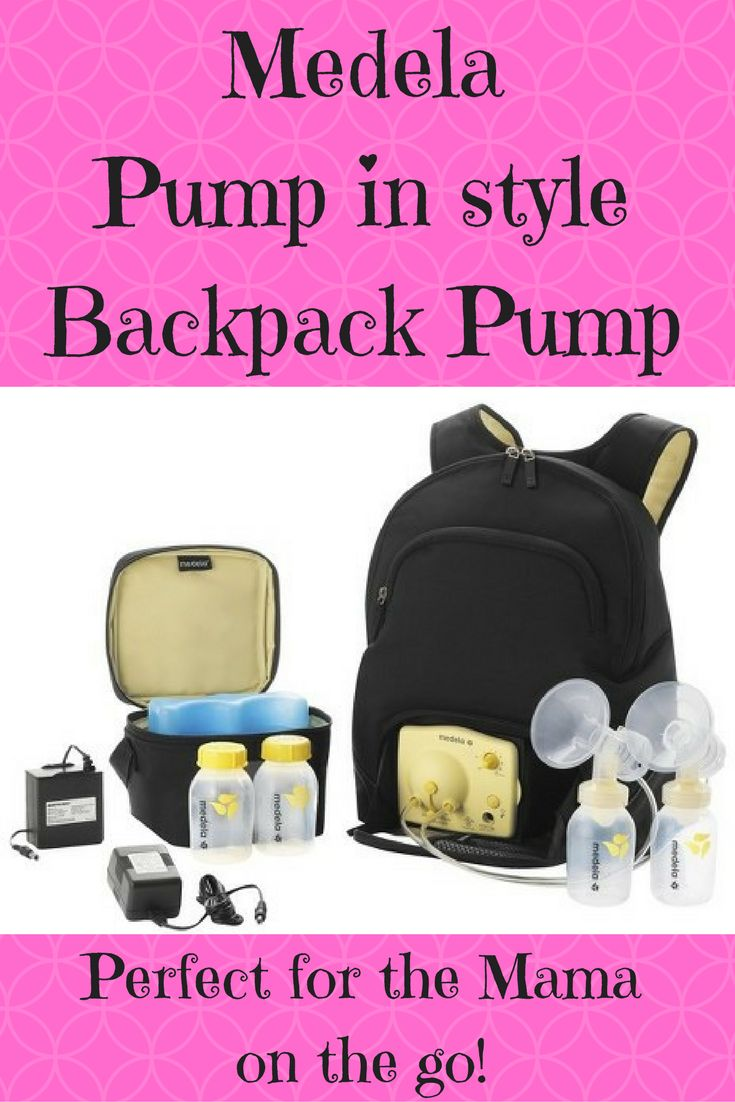 The Medela Pump In Style Backpack Pump is the perfect pump for the mama on the go.