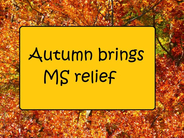 Autumn brings MS relief --  http://kickingmstothecurb.blogspot.com/2017/09/autumn-brings-ms-relief.html #kickingMStothecurb #multiplesclerosis #uhthoffsSYNDROME #MSsymptoms