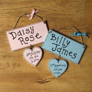 Personalised New Baby Plaque