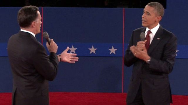 President Obama and Mitt Romney tangled in the opening moments of their second debate on the economy, taxes and energy – as the president tried to make up for lost ground in the wake of his opening debate performance.
