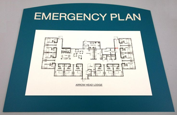 Erie Custom Signs, Evacuation Map, Two Layered Sign