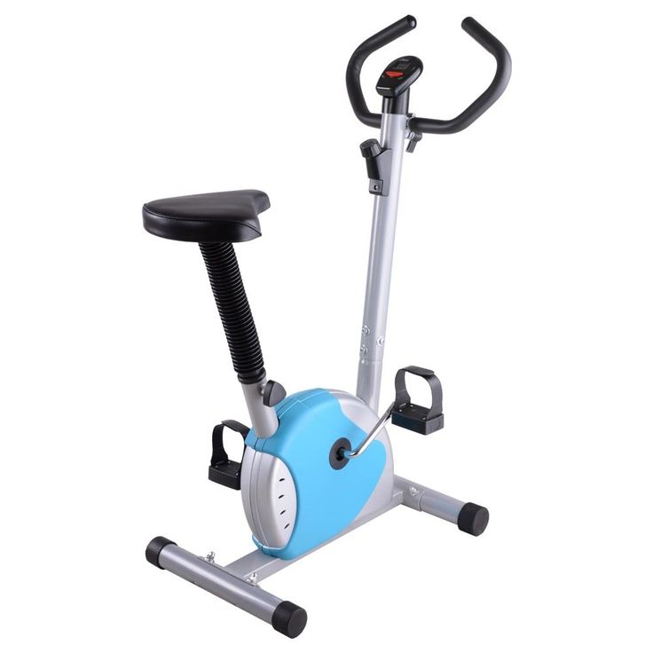 Exercise Bike Fintess Cycling Machine Cardio Aerobic Equipment Workout Gym Blue. It's very suitable for people exercise at home when you watch TV or listen music. Multi resistance adjustment; Seat vertical adjustable system. It's great for Leisure Exercise. Computer for scan, time, speed, distance, calories 3. About noise: The resistance design of this product is base on the friction of belt, so it would have some little noises when using it. 4. About product doesn't work: The design of...