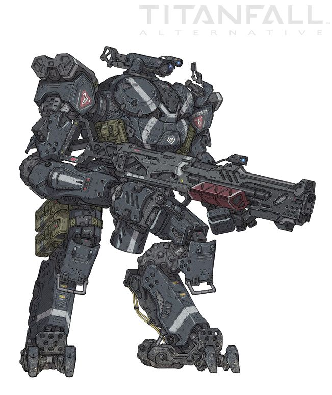 the JUMP-GATE | Titanfall by: Woo Kim | Robots concept ...