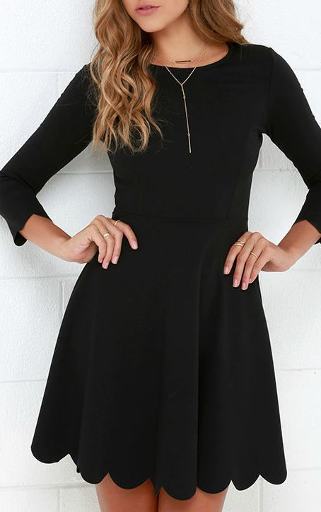 17 Best ideas about Black Dress With Sleeves on Pinterest | Dress ...