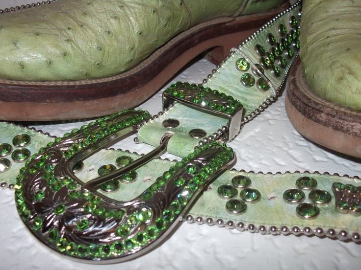 One of my favorite pistachio colored B.B. Simon belts with matching Luccheses