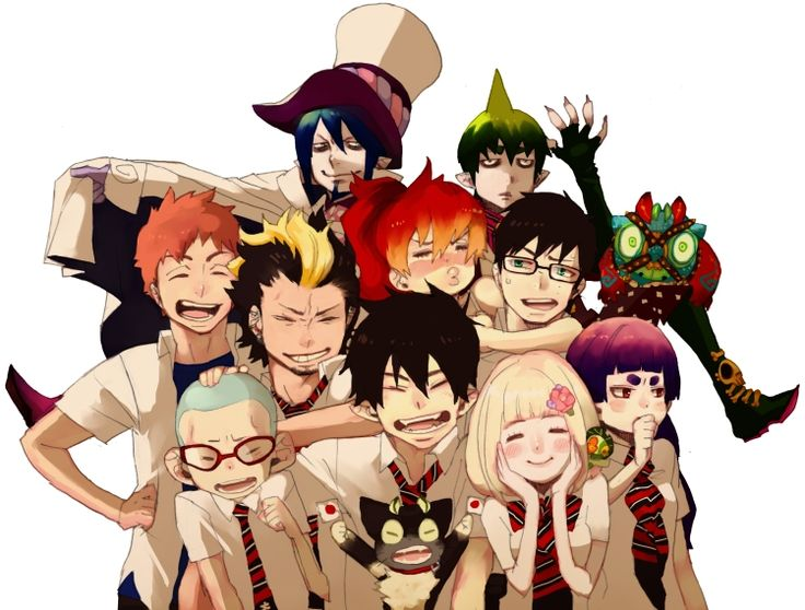 """There was a request of the messages of support towards the earthquake affected areas of Tohoku. It is an illustration that was posted on the web site. SQ while ago.Kazue Kato """"Blue Exorcist"""" 東北地震の被災地に向けて応援メッセージを!…といわれて ちょっと前にSQ.のサイトに寄せたイラストです。"""