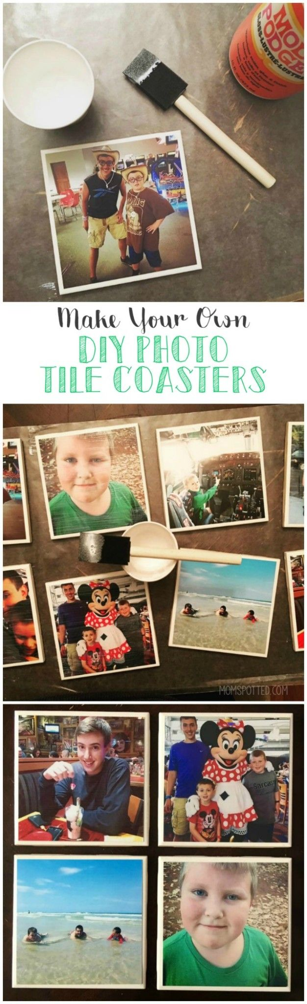 These photo tile coasters make for an easy craft and a great homemade gift for friends & family. We love using all our favorite Instagram photos!