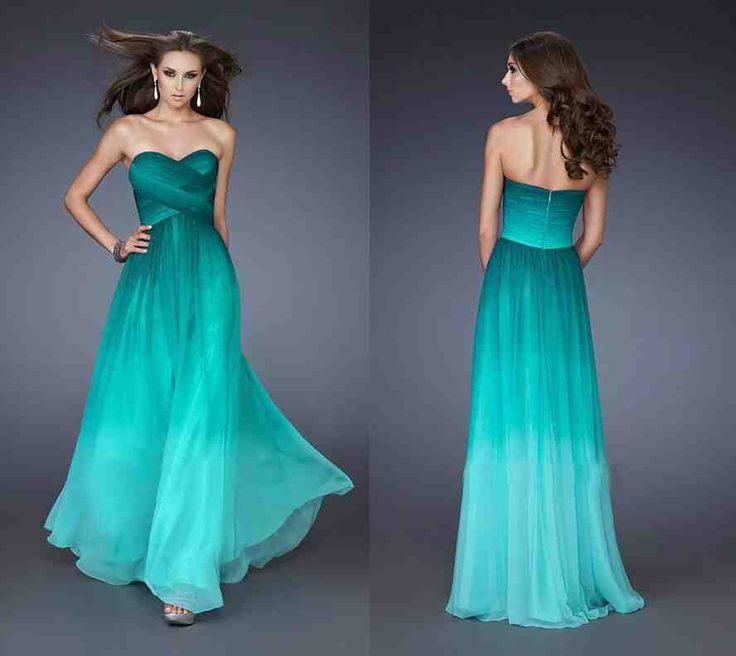 Peacock blue and green dress images for Blue green wedding dress