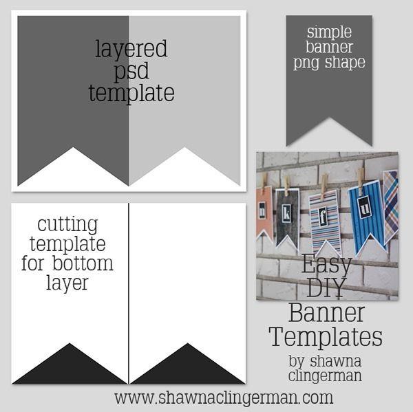 free easy diy banner templates pinterest banner template