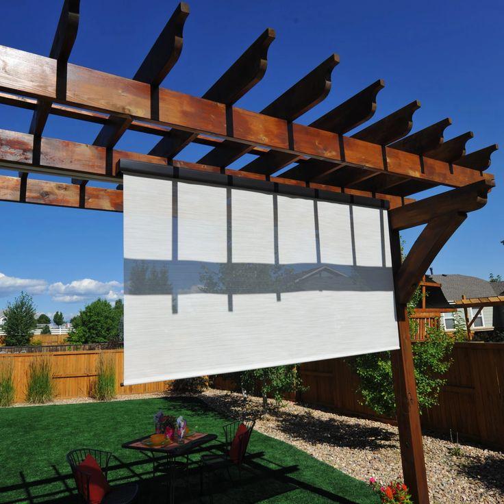 Keystone Fabrics Valanced and Pole Operated Outdoor Sun Shade | from hayneedle.com