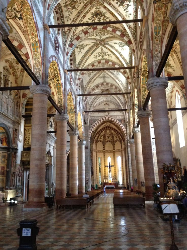Interior of Santa Anastasia Church in Verona.
