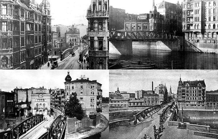 dawne koryto Warty i Most Chwaliszewski.