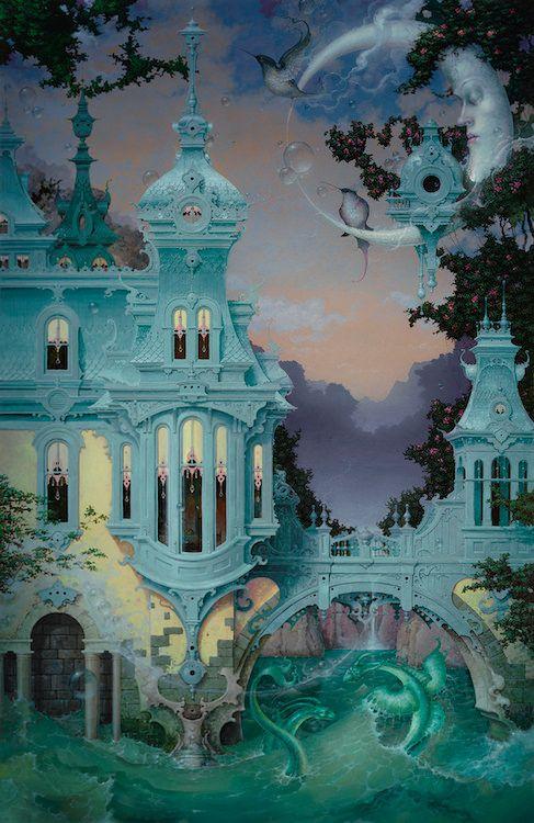 Looking at the Art of Escapism in Daniel Merriam's Watercolors   Hi-Fructose Magazine