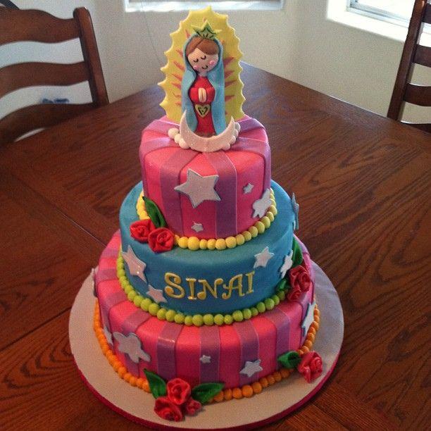 One of my favoritist cakes to date! Virgencita Plis for a Baby Girls Baptism celebration #belindacakes | Flickr – Compartilhamento de fotos!...