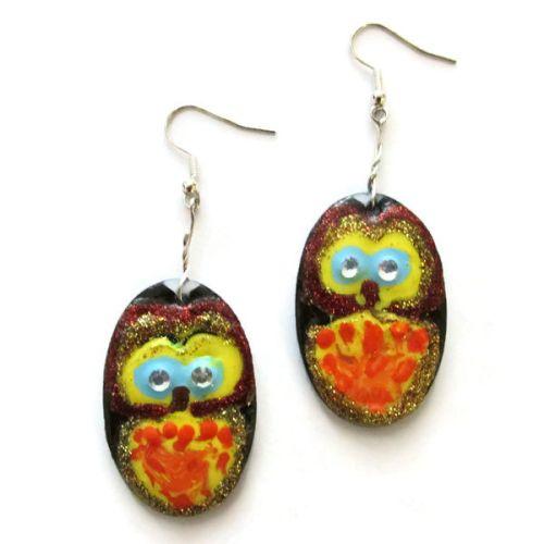 Owl Design Earrings