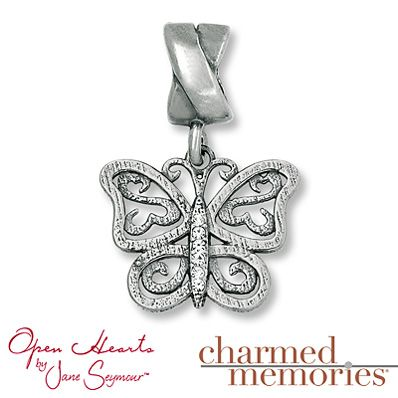 Charmed Memories® Butterfly Charm Sterling Silver