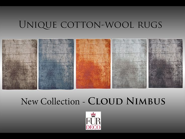 Fur Deco | cotton wool rug - cloud nimbus
