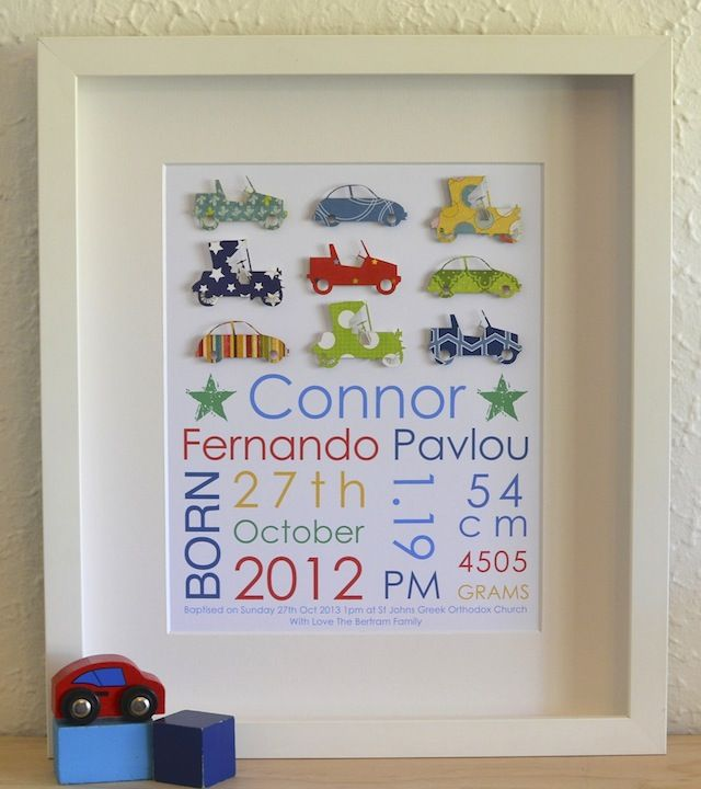 33 best boys personalised paper art images on pinterest shadow box baby birth details artwork boys personalised new baby boy birth information announcement christening negle Gallery