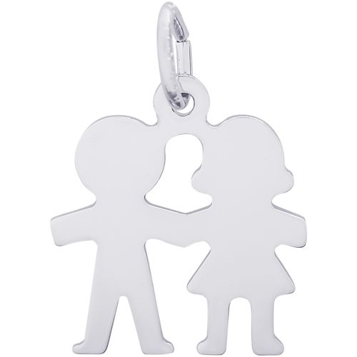 Rembrandt Boy and Girl Symbol Charm