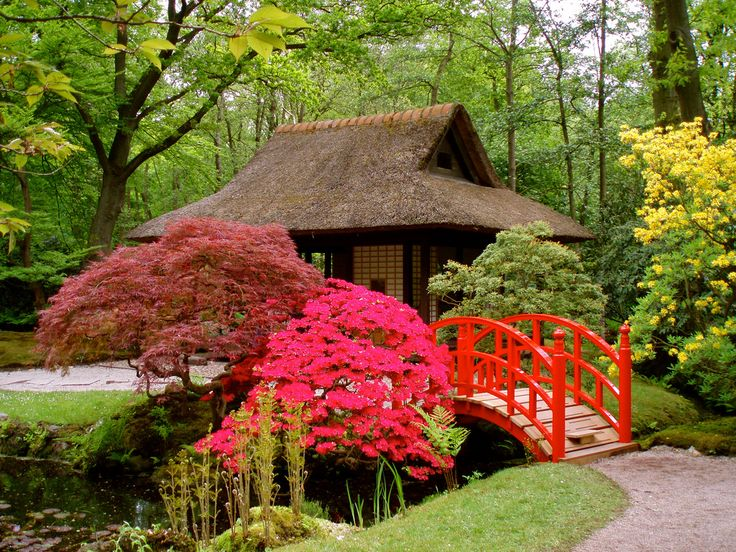 The Japanese Garden was created in the beginning of the 20th century by the former owner of the country estate of Clingendael, Marguérite M. Baroness van Brienen (1871-1939), also called Lady Daisy. Lady Daisy sailed off a number of times by ship to Japan and brought back to the Netherlands a number of lanterns, a water cask, sculptures, the pavilion, the little bridges and several plants.