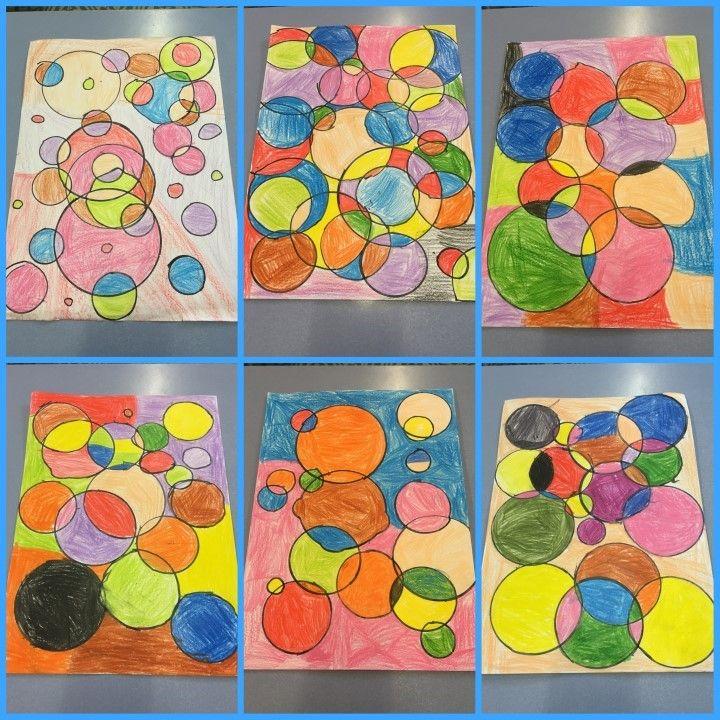 DIBUIX AMB CERCLES - Material: paper, colors, elements rodons - Nivell: 2PRIM CI 2015/16 Escola Pia Balmes