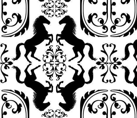 Wild Horse Filigree Pattern Design