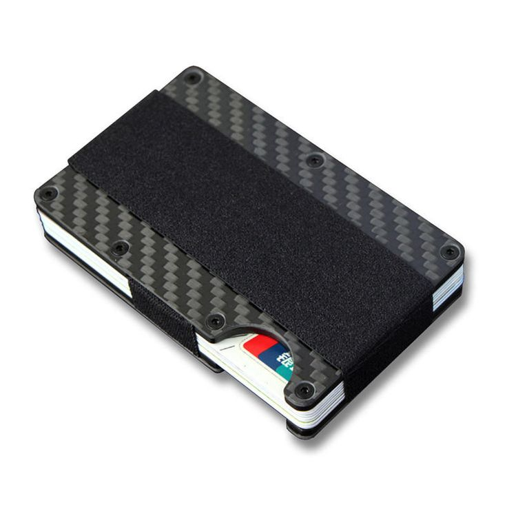 Slim Carbon Fiber Credit Card Portable ID Passport Card Holder Money Clip Case W…