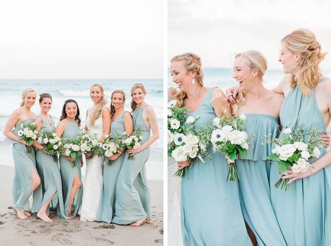 Seafoam + Blue Beach Wedding // Laurabeth + Kevin