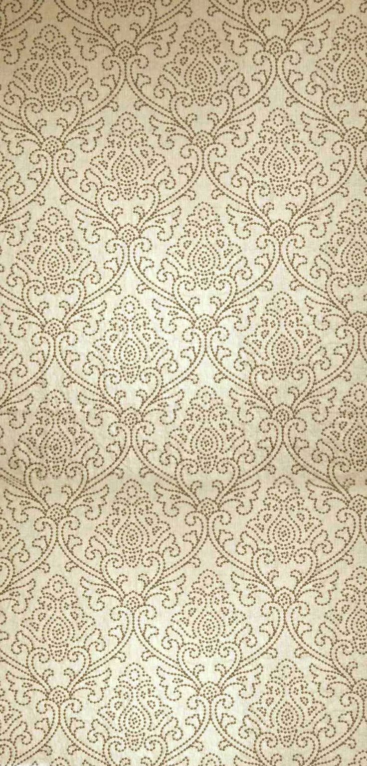 Dark Beige Filigree Pattern
