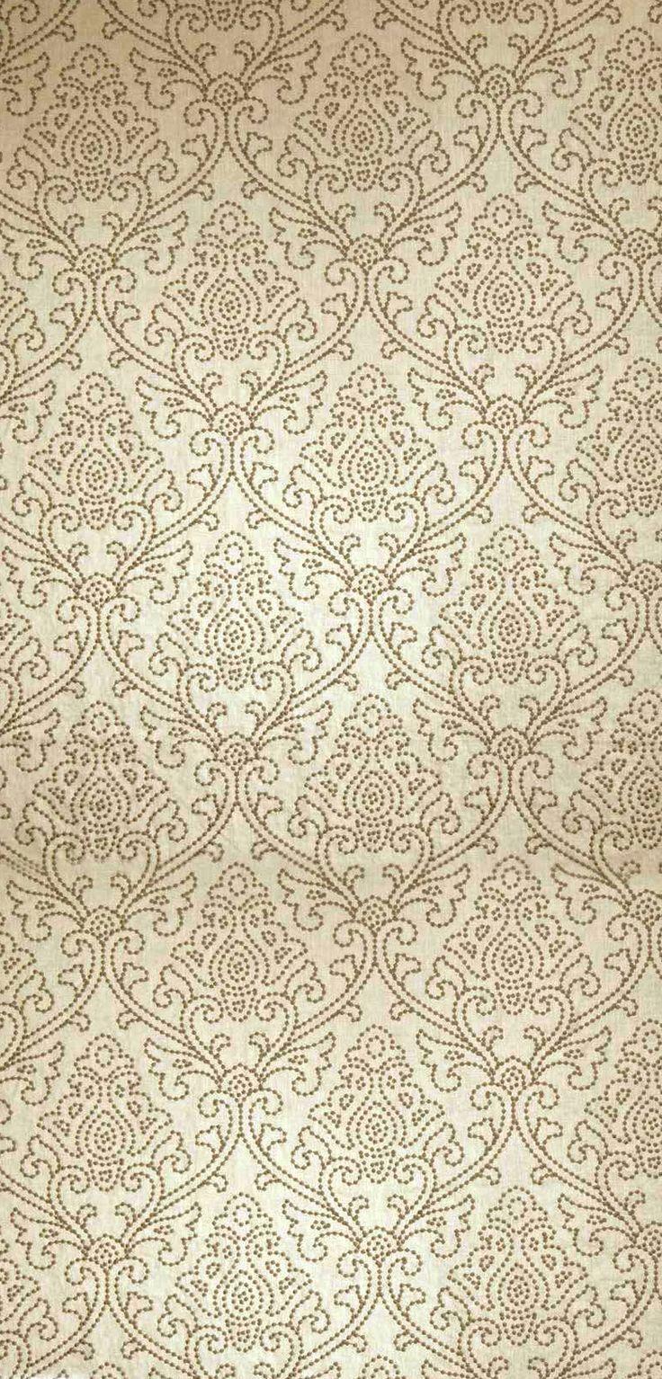 Dark Beige Filigree Pattern