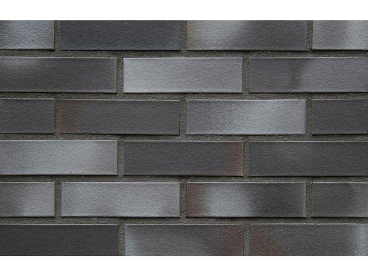 Verblender / Klinker Verblender K191-NF / Klinker / Fassade / Muster / Tafel / anthrazit blau nuanciert