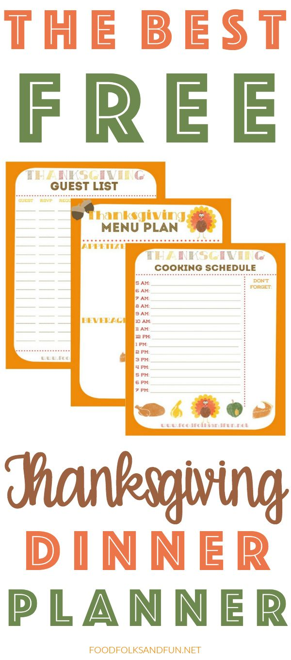 Free Thanksgiving Planner with 5 Printables to help keep you organized: Thanksgiving Guest List Planner, Thanksgiving Menu Planner, Thanksgiving Recipe List Planner, Thanksgiving Wednesday Prep List, and Thanksgiving Cooking Schedule Planner