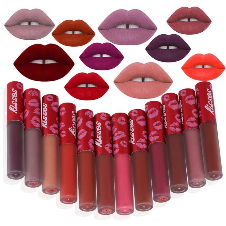 1 stuk Waterdichte Lippenstift Langdurige Matte Vloeibare Lipstick Lipgloss Cosmetica Make Voor Vrouwen 12 Kleur