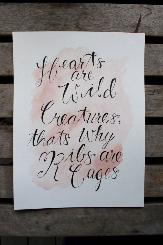 Original Watercolour Quote Wall Art Hearts are by WestCoastColours. Amazing watercolour quote, great for any room and great gift for any occasion. Wall art watercolour quote #calligraphy #watercolour #wallart