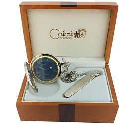 Colibri Pocket Watch Clasic Design Two Tone with Pocket knife PWS095851R