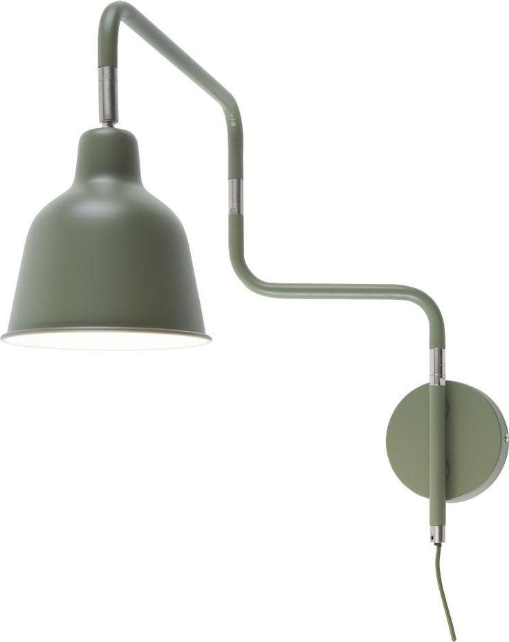 Wandlamp London - olijfgroen - metaal - 44x40cm - It's About Romi