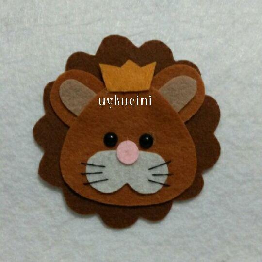 uykucini - felt lion keçe aslan kral...