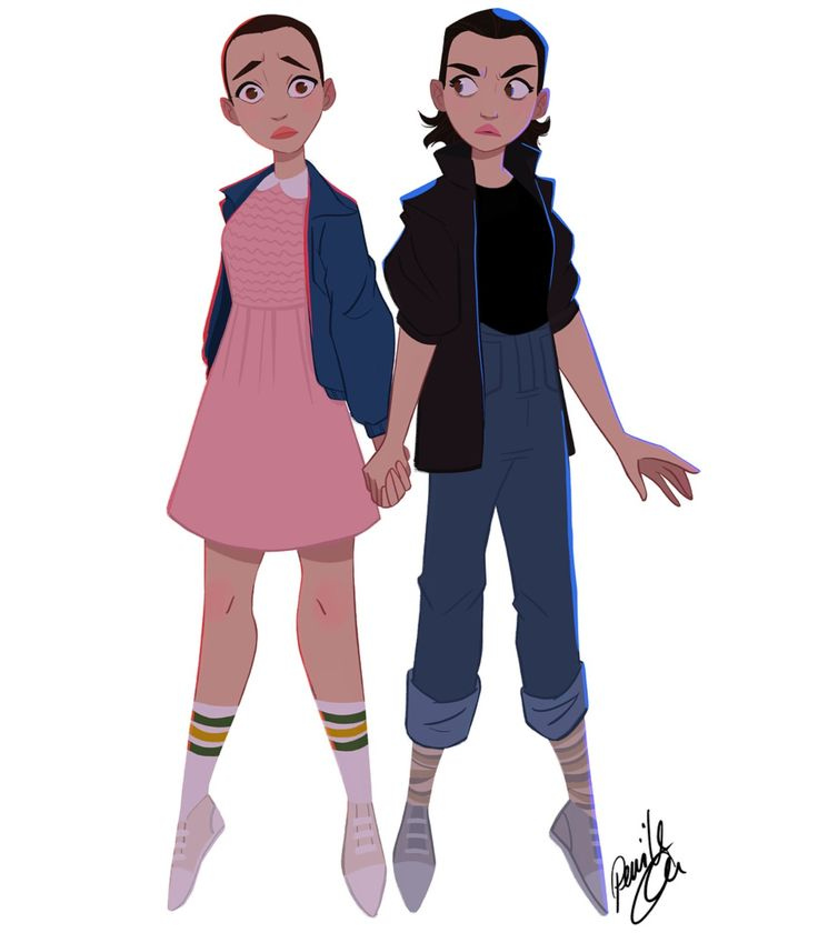 The old and new Eleven- I've never seen stranger things, but this is really cute