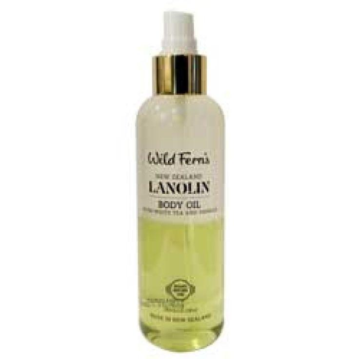 Wild Ferns New Zealand Lanolin Body Oil with White Tea & Vanilla 180ml