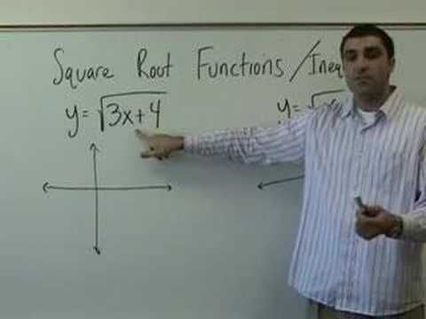 Algebra 2 - Square Root Functions and Inequalities - YouTube
