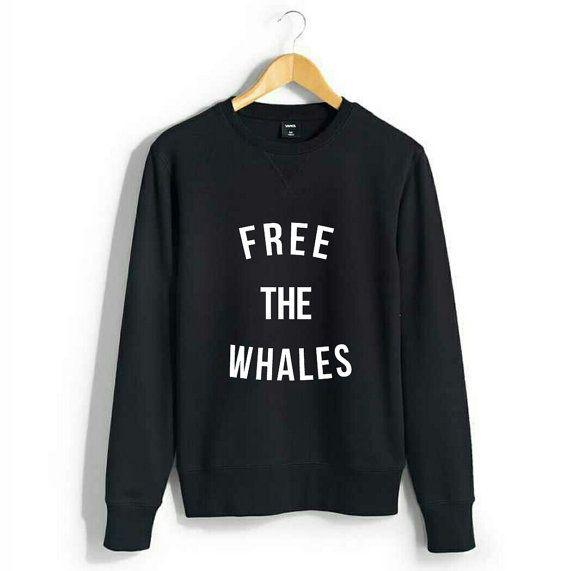 Gratis de walvissen cirkel Logo - vrouwen Sweatshirt {Hanes}