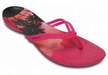 Crocs dámské růžové žabky Isabella Graphic Candy Pink - 899 Kč