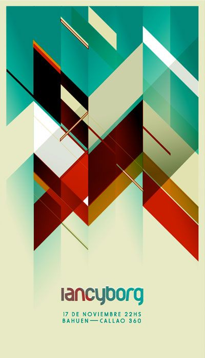 GEOMETRIC POSTER        A pretty cool geometric poster here. via Posters | Veerle's blog